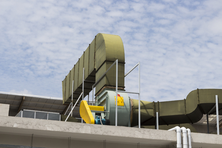 exhaust system: Air duct and ventilation system of modern building