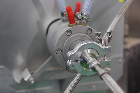 Nahaufnahme einer industriellen Ausrüstung Standard-Bild