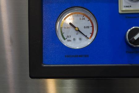Vacuum gauge in control panel