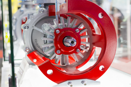 detail of industrial centrifugal pump Stock Photo