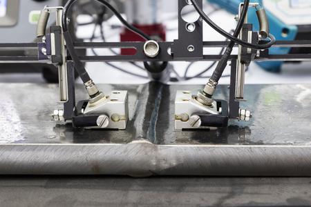 ultrasoon sonde testen lassen staal; detailopname
