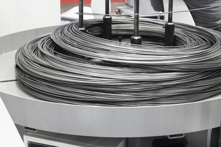 Matière première en tige d'acier pour machine à cintrer Banque d'images - 90748559