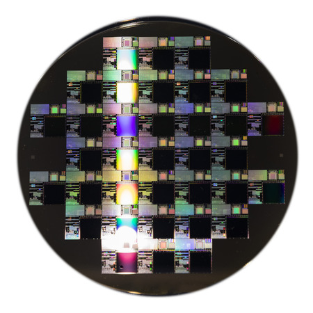 A Semiconductor wafer disk, close up