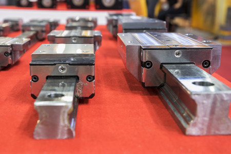 Linear guide for machine spare parts ; close up