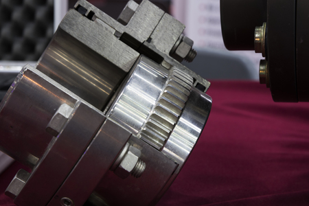 Gear coupling for motor transmission ; mechanical part Stok Fotoğraf