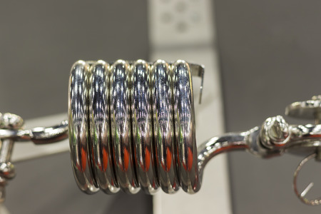 High strength spring pull with calble ; close up
