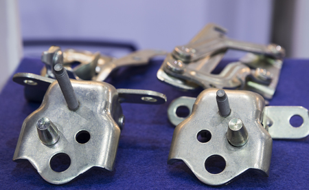 Car hinge and stamping parts for automobile 스톡 콘텐츠