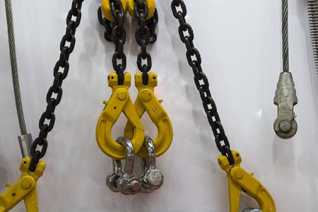 hook , chain and steel wire set for crane