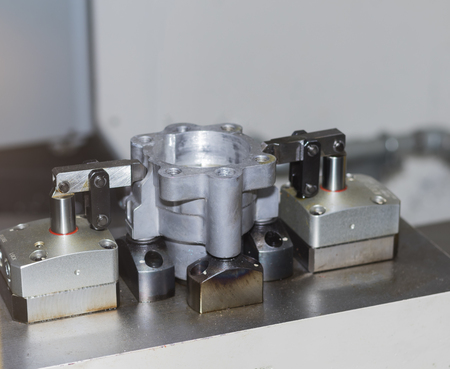 Automotive part clamping jig for machining process ; body of steering power pump