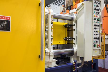 Particolare macchina per pressofusione di alluminio ad alta pressione Archivio Fotografico