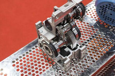 cross section of worm gear pump ; selective focus Imagens