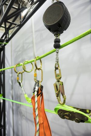 Industrial safety harness ; equipment for high ground working