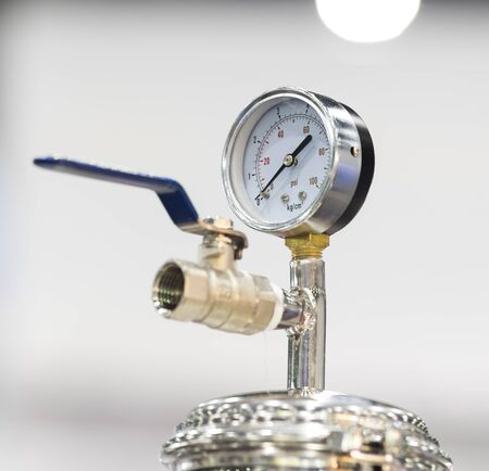 Pressure dial Gauge for measuring air pressure in manufacturing equipment