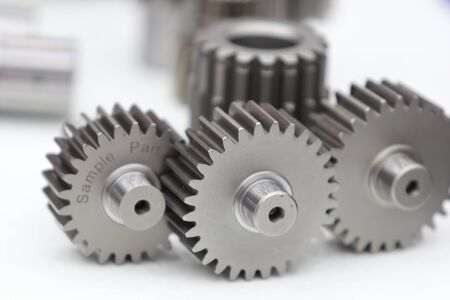 Industrial gear spare parts for heavy machine ; close up Reklamní fotografie