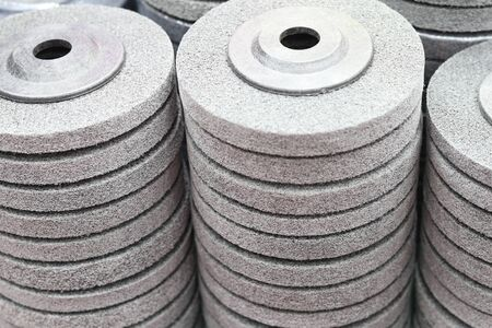 the industrial scouring wheel pad ; for surface treatment Banco de Imagens