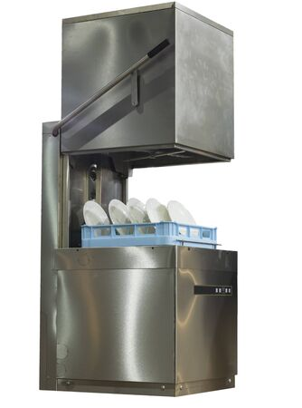 gloass  Bowl  Dish washer machine ; white background ; clipping mask
