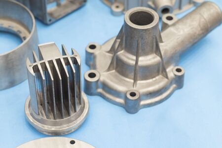 as cast  aluminium high pressure die casting part for automotive and electrical equipment ; industrial background