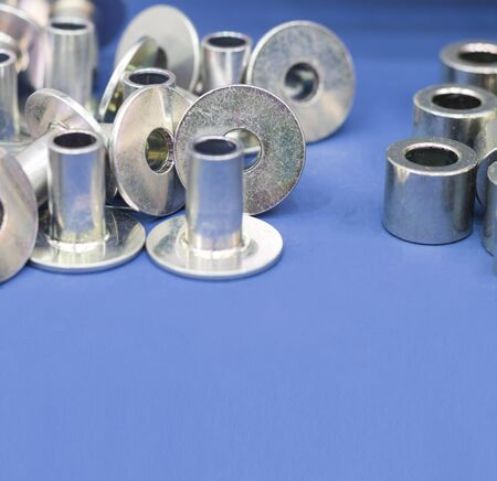 steel part with  zinc plating  manufacturing process ; tapping Reklamní fotografie