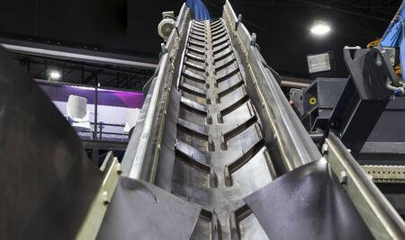 conveyor in transportation truck ; mining industrial