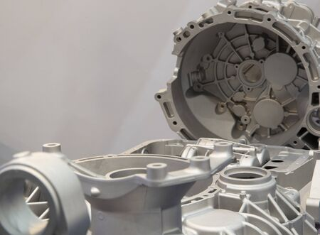 aluminium die casting products made from high pressure injection machine using molten metal and metal tooling or mold ; ADC12 ; engineering background ; high productivity