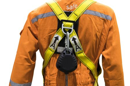 Industrial safety harness ; equipment for high ground working;isolated white background