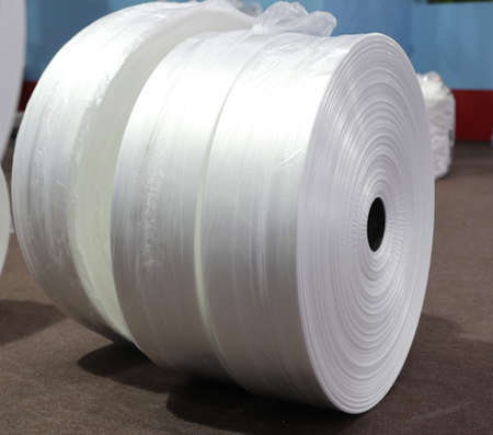 roll of industrial plastic as material for plastic bag