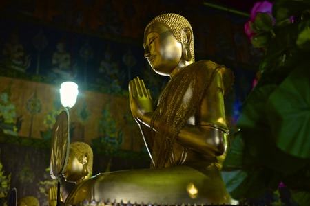 meditaion: Buddha praying Editorial