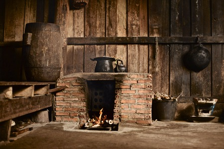 fireplace: Old fireplace Stock Photo