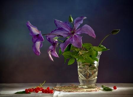 still life: Lilac flowers Stock Photo