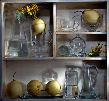 shelf with pears photo