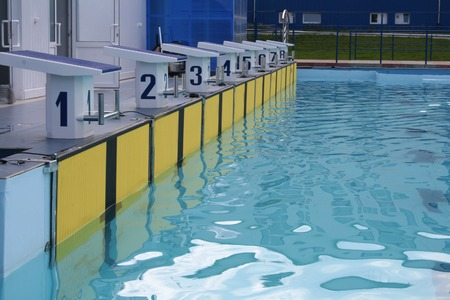 The pool is prepared for carrying out of competitions