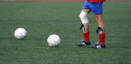 New rules of football - on a field two balls Stock Photo - 1425306