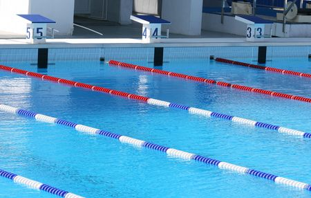 The sports pool is ready to competitions Stock Photo