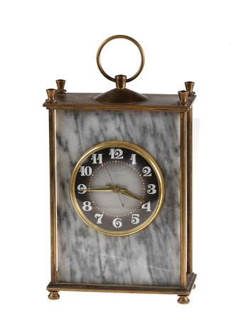 Old beautiful hours per marble execution  Isolated  Stock Photo