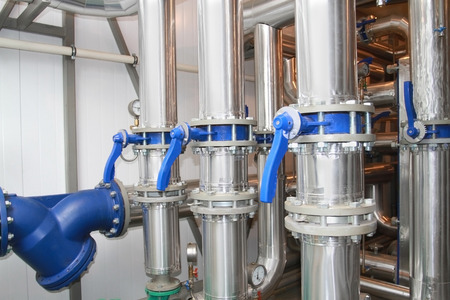 thermal: Pipelines in a thermal protection in a boiler-house