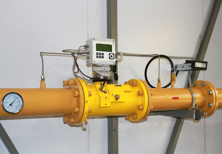 metre: Gas metre of high accuracy for the commercial account Stock Photo