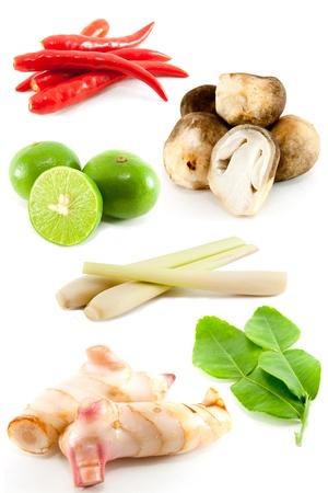 tom: group of Tomyum(Thai food) seasoning ingredients