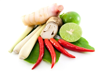 thai pepper: group of Tomyum(Thai food) seasoning ingredients