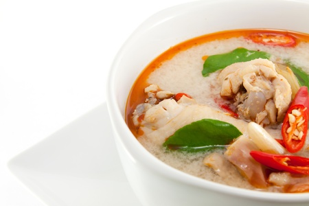 chicken wing tom yum in bowl (Thai food) photo