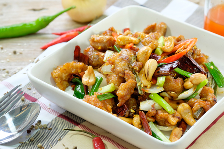 chicken noodle: Kung Pao Chicken with Peppers and Veggies
