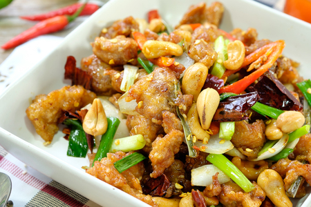 pao: Kung Pao Chicken with Peppers and Veggies