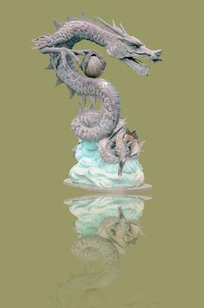 chiness: chiness style dragon  statue Stock Photo