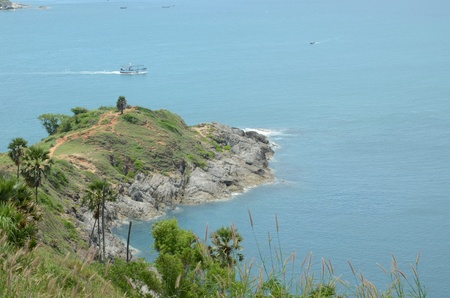 southern of thailand: Phromthep attractions of southern Thailand. Stock Photo