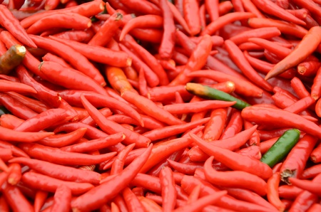 processed food: Pepper is a plant that can be used for both short-lived. Fresh and processed food Stock Photo