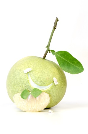 carminative: Pomelo   Citrus maxima Merr    Stock Photo