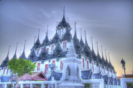 troublesome: Loha Prasat, WAT RATCHA NADDA TEMPLE, Ratchadamnoen Road, Bangkok, Thailand