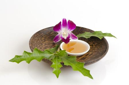 ulceras: Frote con Mar acebo y miel para hidratar la piel y no irrita la piel. Foto de archivo