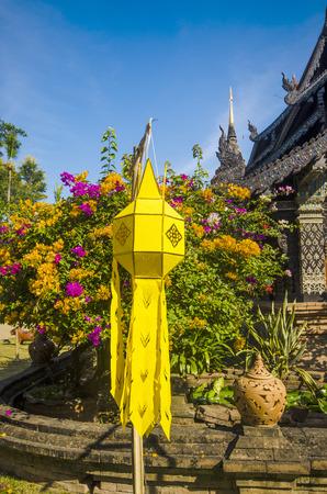 molee: Old wooden church of Wat Lok Molee, Chiangmai, Thailand