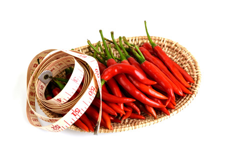 capsaicin: Pepper, the beauty will extract capsaicin is used to extract the gel to reduce use of massage, cellulite fat. Stock Photo