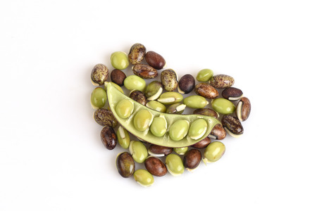 dolichos lablab: lablab bean or Dolichos bean Dolichos lablab Linn.. Stock Photo